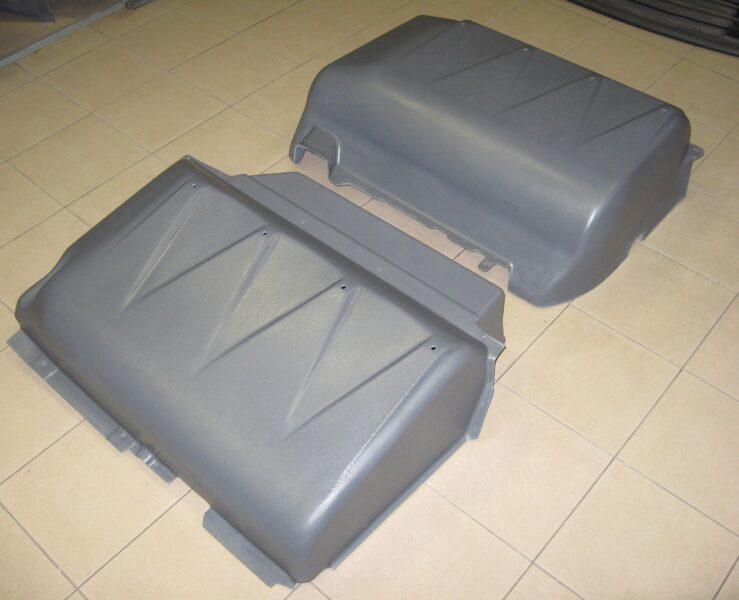 Volkswagen Caddy III ( 2010 - 2015 ) restyle ( 3 parts ) gāzes balona aizsargi