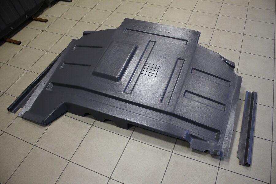 Volkswagen Caravelle ( T5 ) ( 2009 - 2015 ) restyle ( 3 part ) apakšas aizsargi